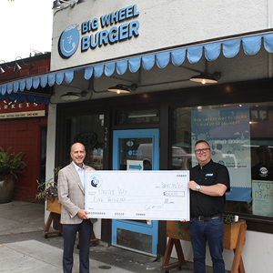United Way partners with Big Wheel Burger to raise $5,000 in support of childhood reading programs in the CRD